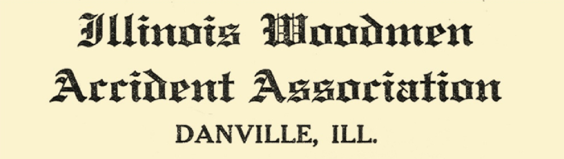 The logo for Illinois Woodmen Accident Association, which would later become Illinois Mutual.