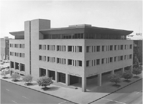 The home office building of Illinois Mutual in Peoria, Illinois.