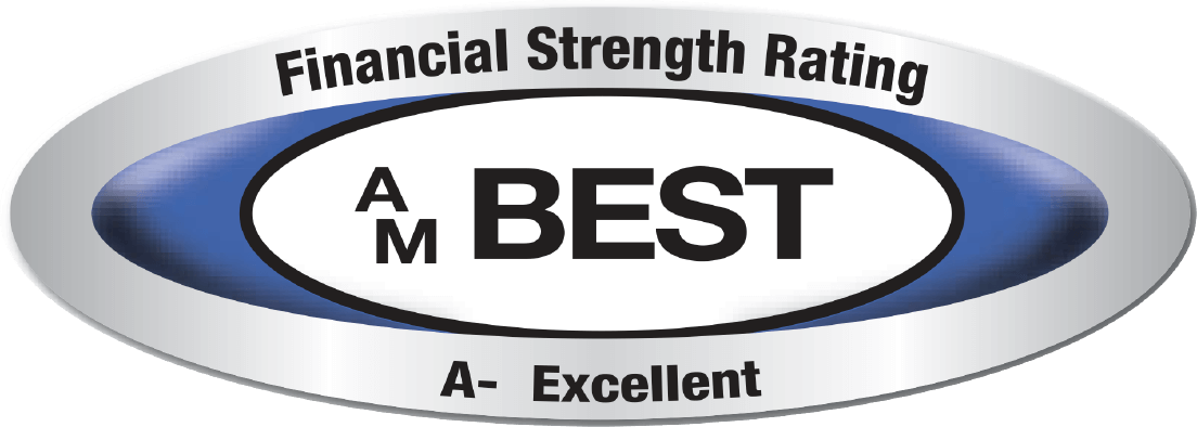 This company was issued a secure rating by the A.M. Best Company, click for additional details