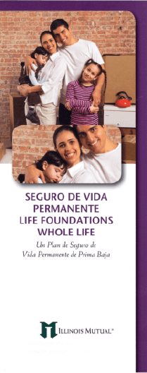Illinois Mutual Whole Life Spanish brochure