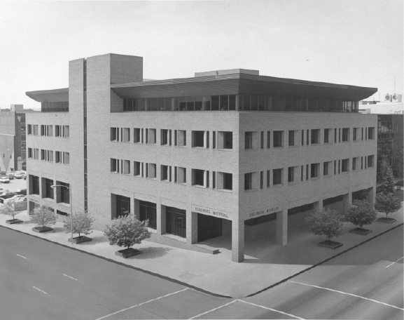 Illinois Mutual's building at 300 SW Adams Street in downtown Peoria, Illinois