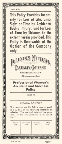 Professional Women's policy application