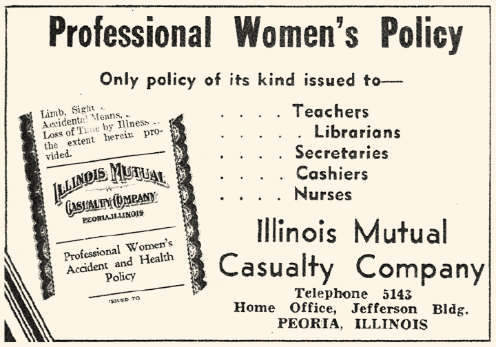 Advertisement for Professional Women's policy